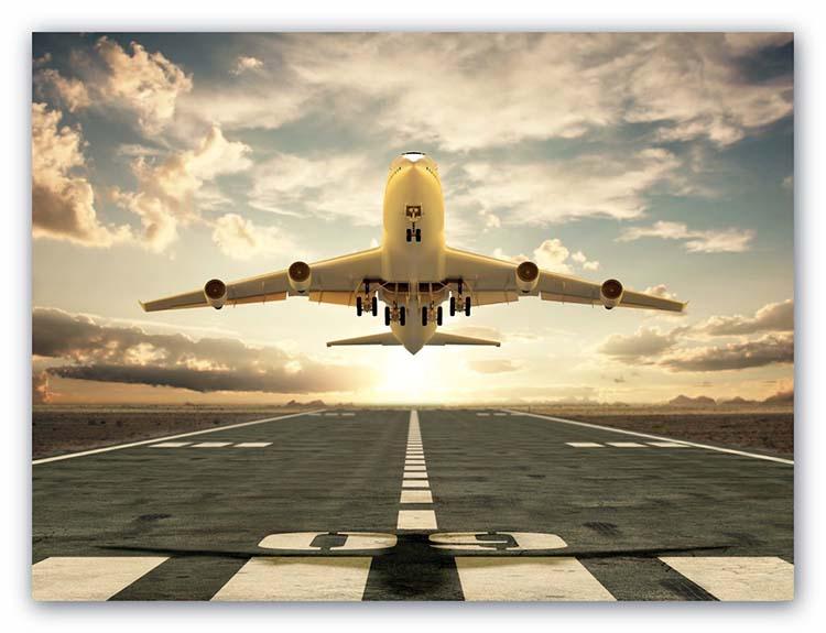 Booking vuelos- Buscador de vuelos – Avión despegando